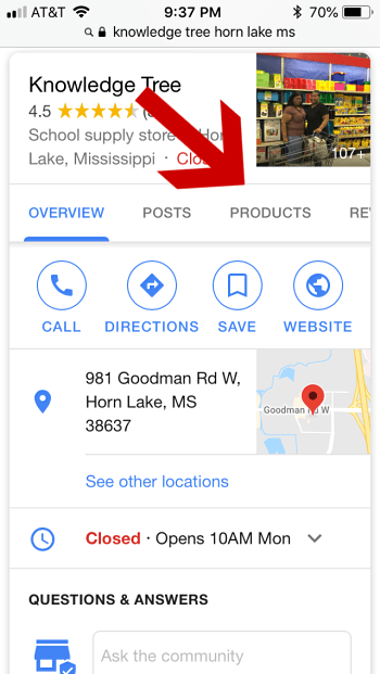 Google-My-Business-Product-Tab-in-Mobile-View